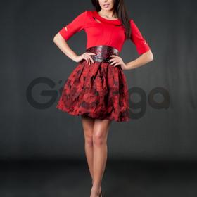 Платье с легкой воздушной юбкой 1546