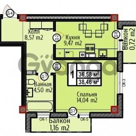 Продается квартира 1-ком 38 м² Шатурская