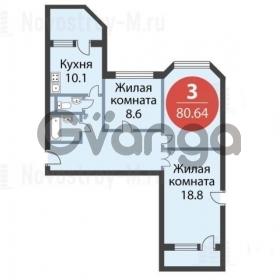 Продается квартира 3-ком 81 м² ул Совхозная, д. 8А, метро Речной вокзал