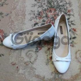 Туфлі білі шкіряні