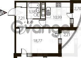 Сдается в аренду квартира 1-ком 50 м² улица Катерников, , метро Проспект Ветеранов