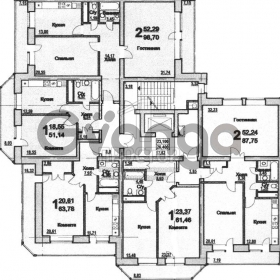 Продается квартира 1-ком 51 м² Лесная улица, вл6