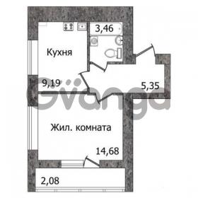 Продается квартира 1-ком 37 м² Гептнера