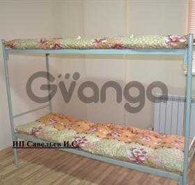 Железные армейские кровати, металлические одноярусные и 2х ярусные.