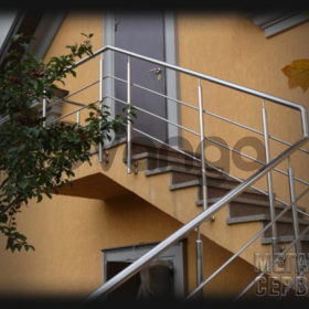 Перила Лестницы Ограждения из нержавеющей стали Киев.