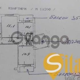 Продается квартира 3-ком 72 м² Бережанская ул.