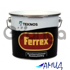 Антикоррозионная краска на растворителе FERREX красная 1л