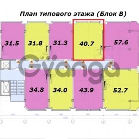 Продается квартира 1-ком 40 м² Ленина