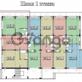 Продается квартира 1-ком 37 м² Тростниковая