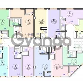 Продается квартира 1-ком 19 м² Гайдара