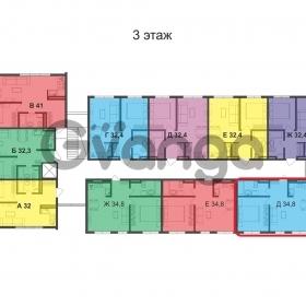 Продается квартира 2-ком 35 м² Пластунская ул.
