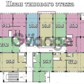 Продается квартира 1-ком 31 м² Тростниковая