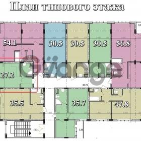 Продается квартира 1-ком 27 м² Тростниковая