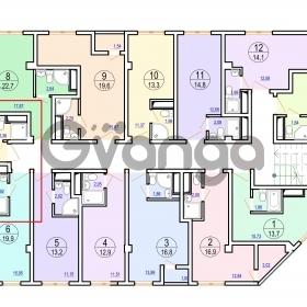Продается квартира 1-ком 12 м² Гайдара