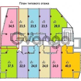 Продается квартира 1-ком 35 м² Лысая гора