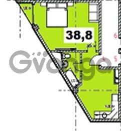 Продается квартира 1-ком 38.57 м² Учительская