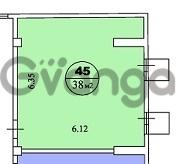 Продается квартира 2-ком 45 м² 50 лет СССР ул.