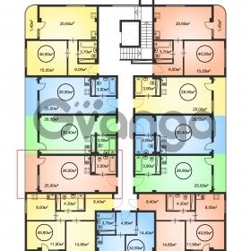 Продается квартира 1-ком 28.9 м² Каспийская