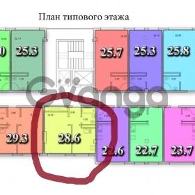 Продается квартира 1-ком 28.6 м² Волжская