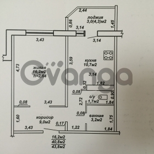 Продается квартира 1-ком 40 м² Денисенко, 78