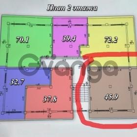 Продается квартира 1-ком 45.9 м² Метелева