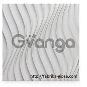 Гипсовая 3D панель для стен ( 011 ) 500 х 500 х 30