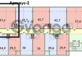 Продается квартира 3-ком 57.1 м² Макаренко