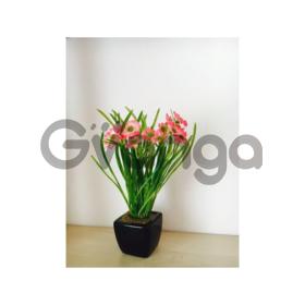 Искусственные цветы в горшочках оптом