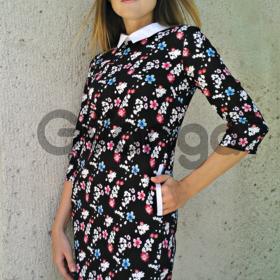 Котоновое платье с цветочным принтом. размеры 42-44-46. новая коллекция осень 2016
