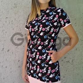 Новая коллекция осень 2016. котоновое платье с цветочным принтом. размеры 42-44-46.