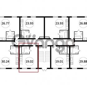 Продается квартира 1-ком 19 м² Пластунская