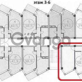 Продается квартира 2-ком 58 м² Новошкольная