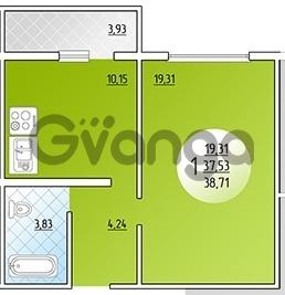 Продается квартира 1-ком 38.7 м² Кружевная, 14