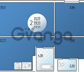 Продается квартира 2-ком 59.5 м² Кружевная, 14
