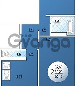 Продается квартира 2-ком 62.1 м² Кружевная, 14
