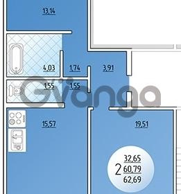 Продается квартира 2-ком 62.69 м² Кружевная, 14