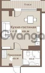 Продается квартира 1-ком 24 м² старошосейная