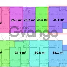 Продается квартира 1-ком 35.1 м² Полтавская