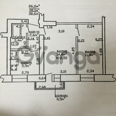 Продается квартира 2-ком 38 м² ул. Рабочая , 6