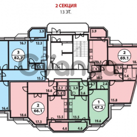 Продается квартира 1-ком 47 м² 10д.кор2