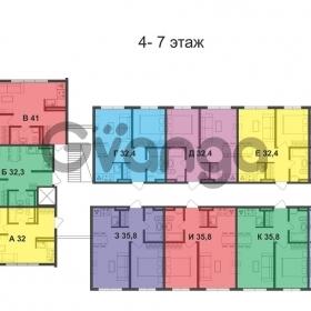 Продается квартира 1-ком 35.8 м² Невская