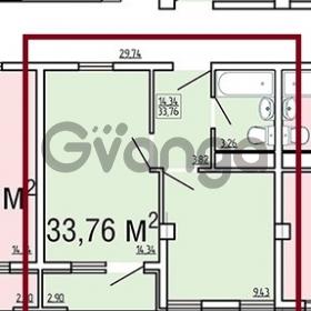 Продается квартира 1-ком 34 м² апшеронская