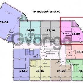 Продается квартира 2-ком 38.89 м² Загородная 3