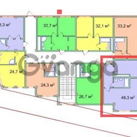 Продается квартира 2-ком 49.3 м² Учительская