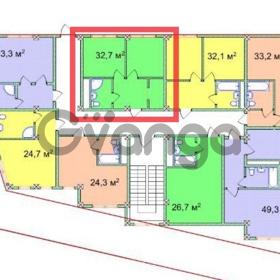 Продается квартира 1-ком 32.7 м² Учительская