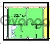 Продается квартира 2-ком 32.7 м² Учительская