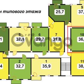 Продается квартира 1-ком 36.1 м² Пятигорская