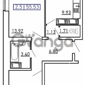 Продается квартира 2-ком 55.5 м² Новая ул., метро Девяткино