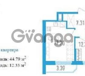 Продается квартира 1-ком 44.8 м² Будапештская ул., 102, метро Купчино
