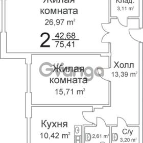 Продается квартира 1-ком 75 м² Чкалова ул, 2/27
